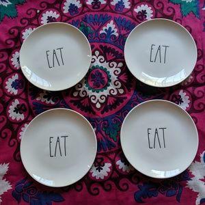 Rae Dunn EAT Appetizer Plates Set of 4